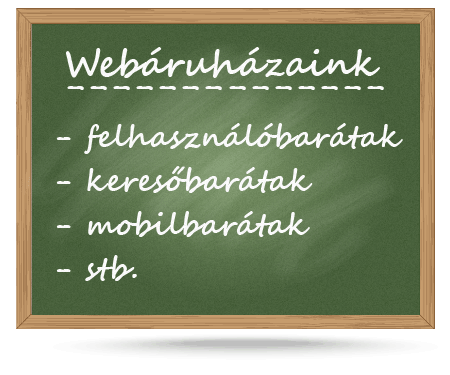 Webáruházaink szolgáltatása