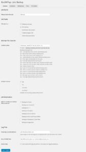 BackWPup plugin - backup készítése